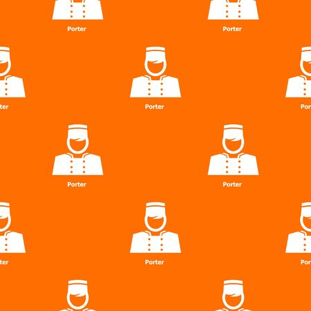 Porter pattern vector orange for any web design best