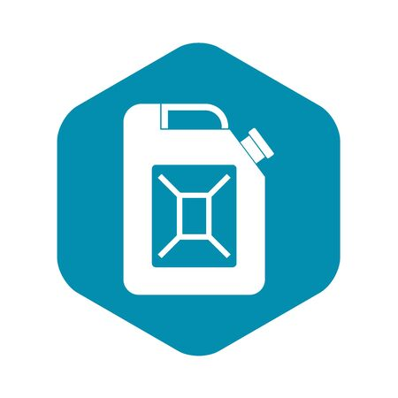 Jerrycan icon, simple style