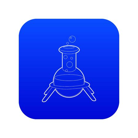 Test flask icon blue vector isolated on white background Ilustración de vector