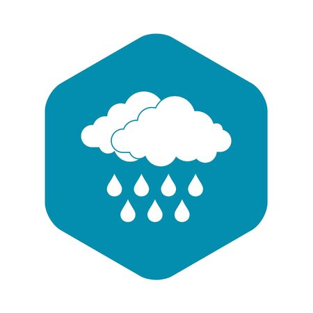Cloud icon, simple style