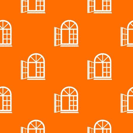 Window frame pattern vector orange