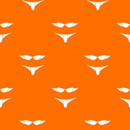 Retro bikini pattern vector orange