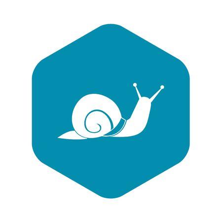 Snail icon, simple style Standard-Bild - 128003436