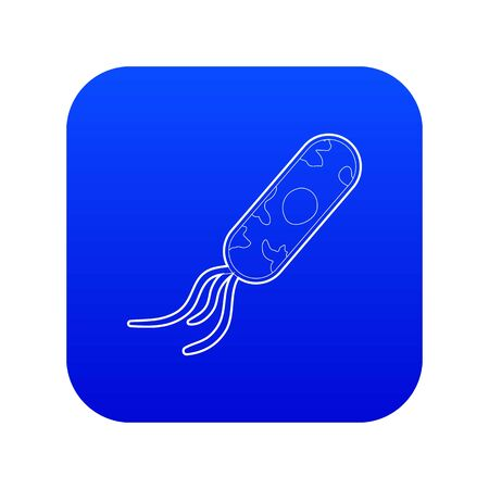 Microbe icon blue vector isolated on white background