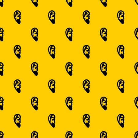 Ear pattern seamless vector repeat geometric yellow for any design