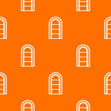 Narrow window frame pattern vector orange  イラスト・ベクター素材