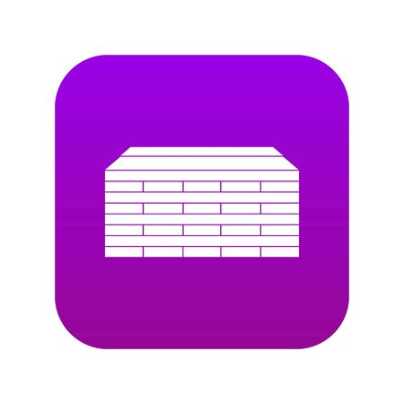 Wooden pallets icon digital purple for any design isolated on white vector illustration Vetores