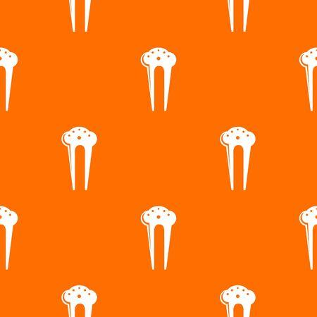Hair fix clip pattern vector orange for any web design best 일러스트