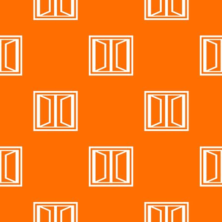 Plastic window frame pattern vector orange