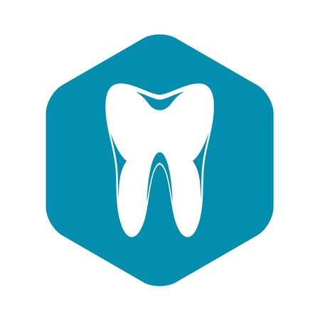 Human tooth icon, simple style