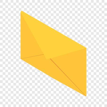 Post envelope icon, isometric 3d style