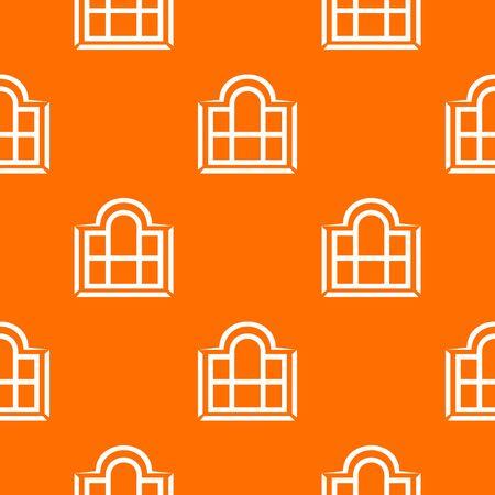 Beautiful window frame pattern vector orange