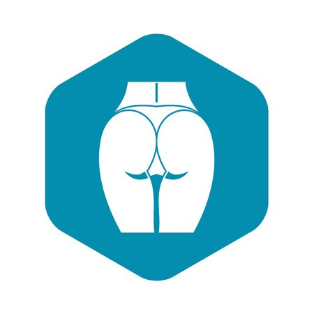 Buttocks of girl icon, simple style Illustration