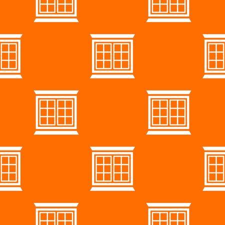 Modern window frame pattern vector orange