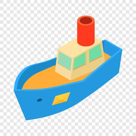 Sea shipping icon. Isometric illustration of sea shipping vector icon for web
