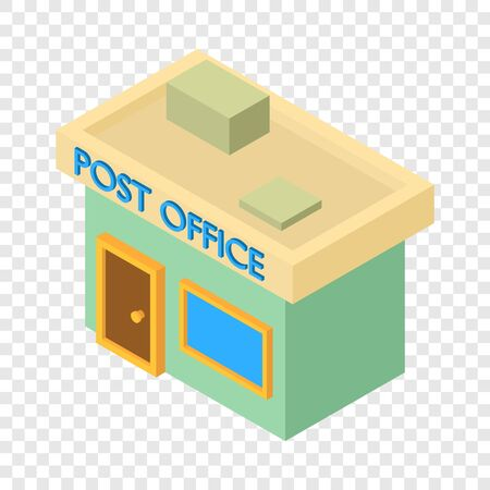 Post office icon, isometric 3d style
