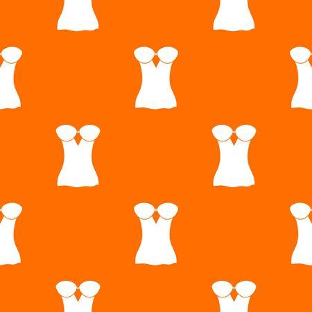 Vintage corset pattern vector orange