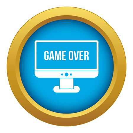 Game over icon blue vector isolated on white background for any design 일러스트