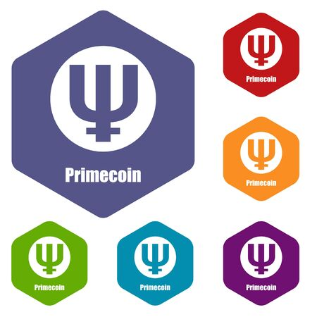 Primecoin icon, simple style