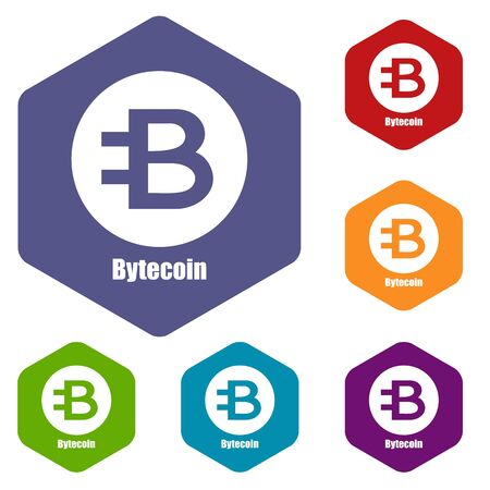 Bytecoin icon, simple style
