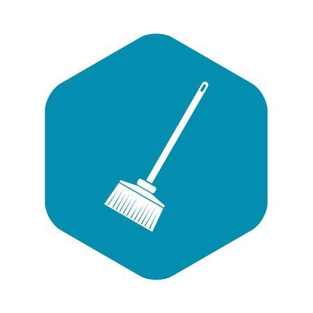 Broom icon, simple style