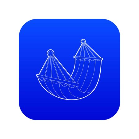 Hammock icon blue vector isolated on white background