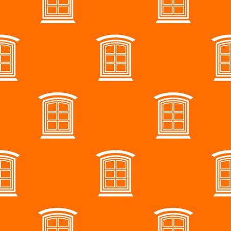 Retro window frame pattern vector orange