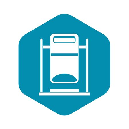 Swinging trashcan icon, simple style 矢量图像