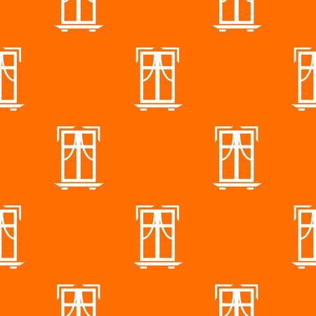 Sill window frame pattern vector orange Illustration