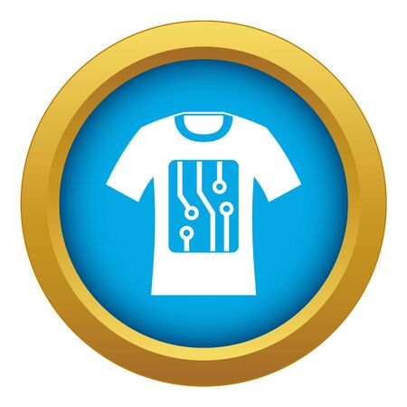 Electronic t-shirt icon blue vector isolated on white background for any design