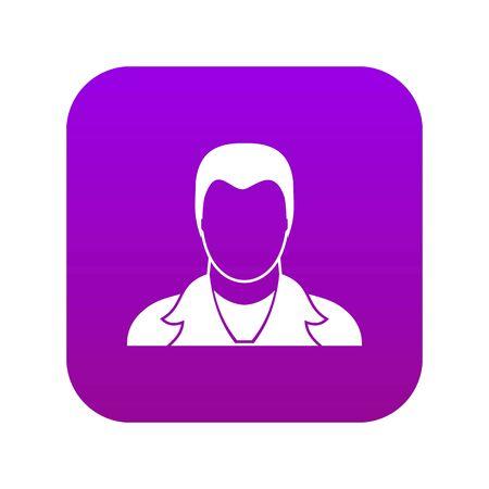 User icon digital purple for any design isolated on white vector illustration 版權商用圖片 - 130255124