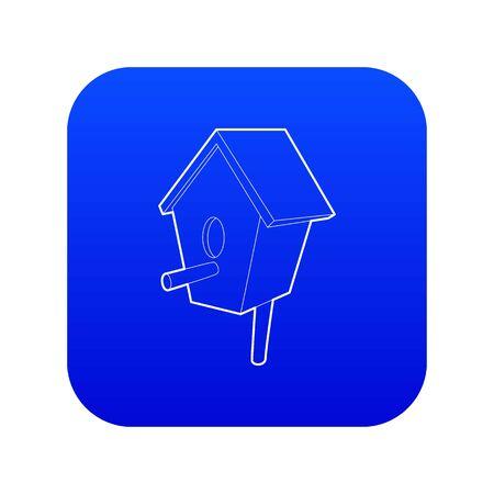Nesting box icon blue vector