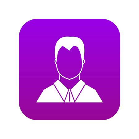 User icon digital purple for any design isolated on white vector illustration