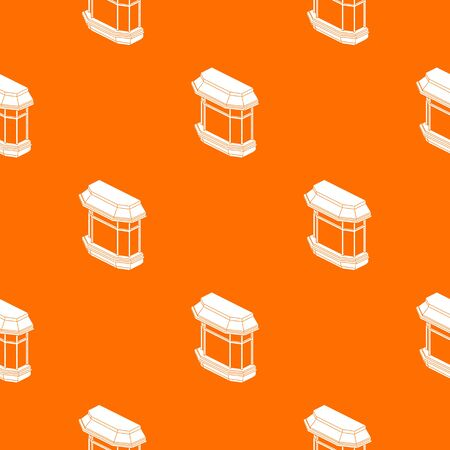 Window balcony pattern vector orange