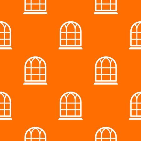 Big window frame pattern vector orange