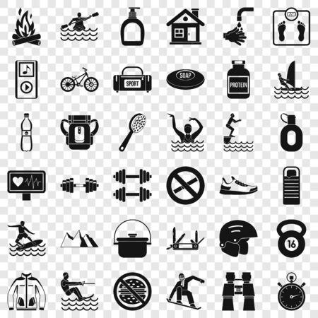 Indicator icons set, simple style