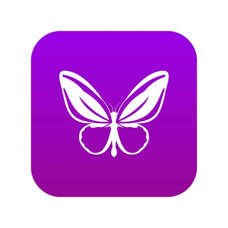 Butterfly icon digital purple for any design isolated on white vector illustration