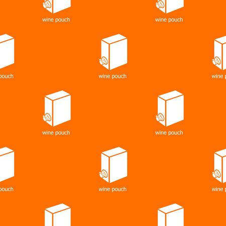 Wine pouch pattern vector orange for any web design best