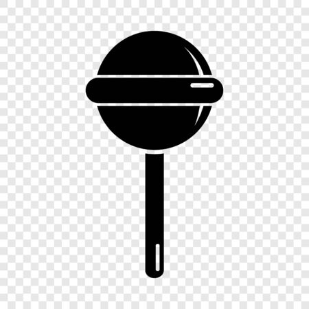 Round lollipop icon, simple black style
