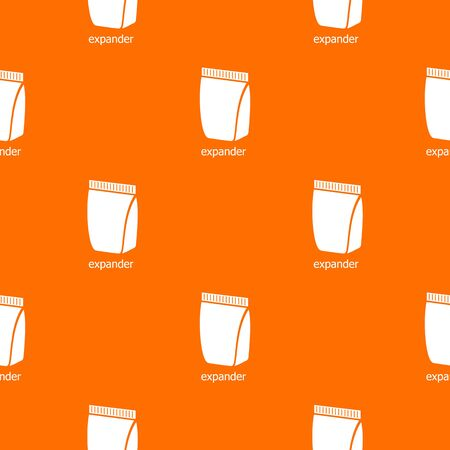 Package pattern vector orange for any web design best