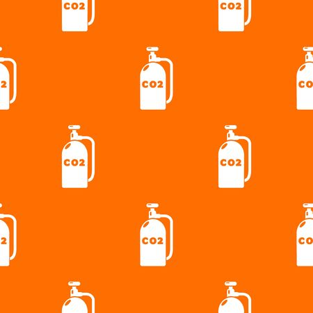 Paintball carbon dioxide canister pattern vector orange for any web design best Stock Illustratie