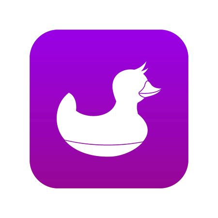 Black duck toy icon digital purple for any design isolated on white vector illustration
