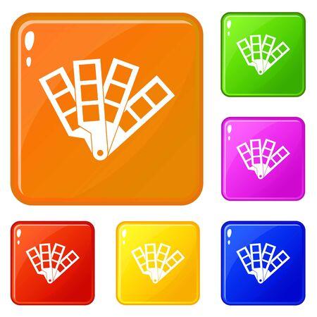 Color palette guide icons set color Reklamní fotografie