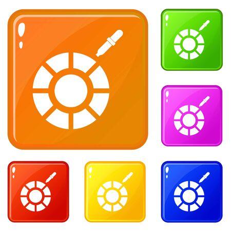 Color picker icons set color