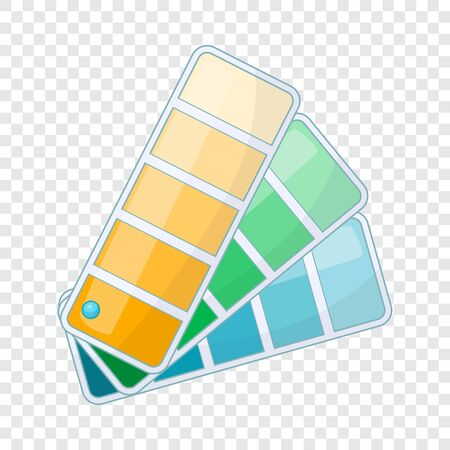 Color template icon, cartoon style Stock Photo