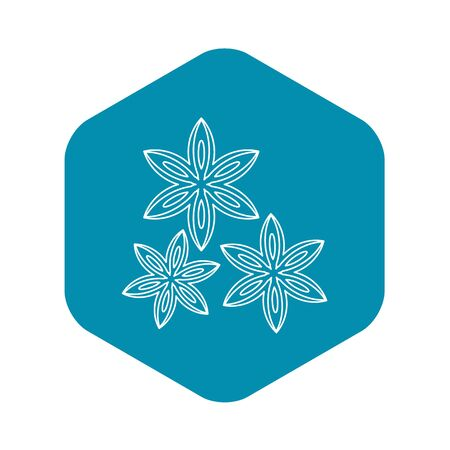 Anise icon, outline style Stock Photo