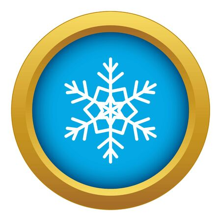 Snowflake icon blue isolated 스톡 콘텐츠