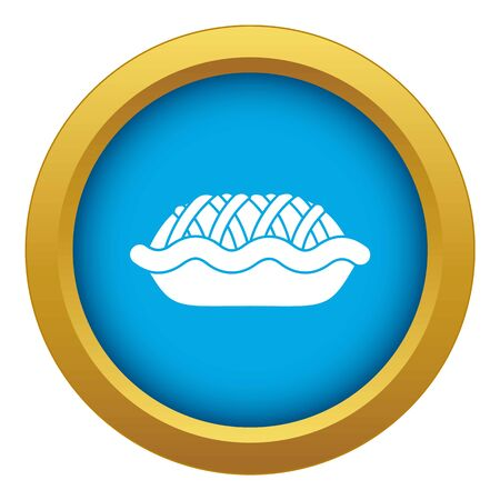 Pie icon blue isolated