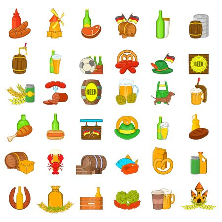 Culture beer icons set. Cartoon set of 36 culture beer vector icons for web isolated on white background
