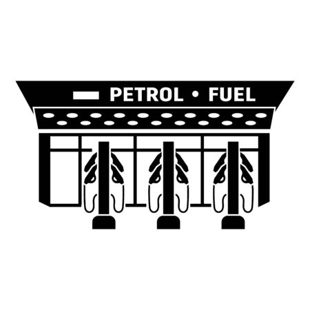 Fuel station icon. Simple illustration of fuel station vector icon for web design isolated on white background